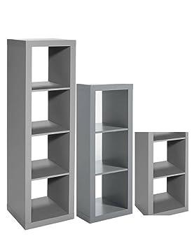 Better Homes Gardens 3 Piece Cube Organizer Storage Bookshelf In Gray Bundle Set