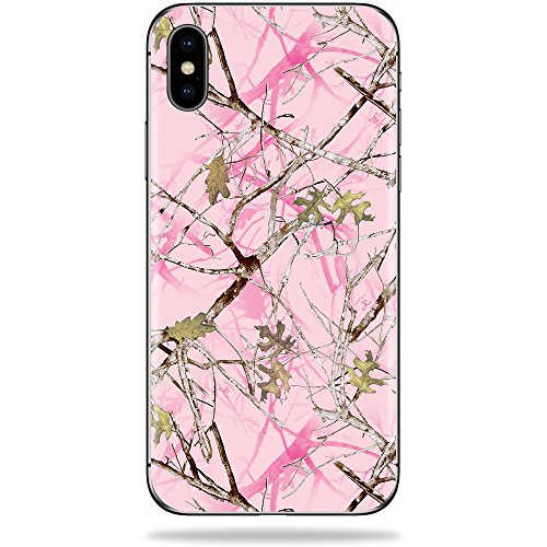 MightySkins Skin for Apple iPhone X - Conceal Pink   Protective, Durable, and Unique Vinyl Decal wrap Cover   Easy to Apply, Remove, and Change Styles   Made in The USA