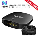 xbox quad core - EASYTONE Android 7.1 TV Box, 2GB RAM 16GB ROM Quad Core Processor Support 3D 4K Bluetooth Smart Android Boxes with mini Keyboard - Black