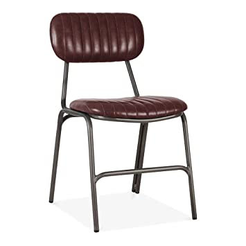 Excellent Cult Living Boston Metal Dining Chair Faux Leather Creativecarmelina Interior Chair Design Creativecarmelinacom