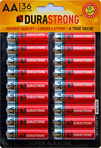 DuraStrong Batteries, Super Alkaline (AA Battery 36 Count)