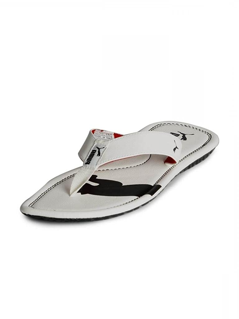 4da6c473c9d Puma Men s Drifter Cat II Ind. White and High Risk Red Hawaii Thong Sandals  - 11 UK India(46EU)  Buy Online at Low Prices in India - Amazon.in