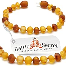 Raw Amber Teething Bracelet or Anklet, Certified Amber Beads, 50% Higher in Value and Effectiveness, Teething Remedies that Reduce Teething Pain & Drooling Naturally / 2LH.U-BRQ/13.5/5.3IN