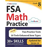 Florida Standards Assessments Prep: 8th Grade Math Practice Workbook and Full-length Online Assessments: FSA Study Guide