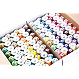 120 Assorted Colors Polyester Embroidery Machine Thread Set (1000 Meters Each)