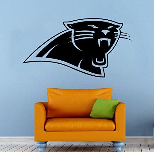 Panthers Logo Wall - Carolina Panthers NFL Vinyl Decal Wall Sticker Emblem Football Team Logo Sport Poster Home Interior Removable Decor