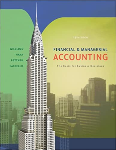 Financial and managerial accounting jan williams sue haka mark financial and managerial accounting jan williams sue haka mark bettner joseph carcello 9780072996500 amazon books fandeluxe Gallery