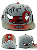 Chicago New Leader Bull Head Skyline Bulls Colors Gray Red Era Snapback Hat Cap