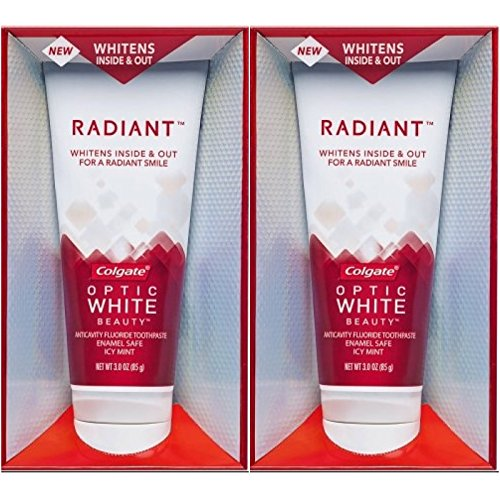 Colgate Optic White Beauty Radiant Icy Mint Anticavity Fluoride Toothpaste 3 oz (Pack of 2)