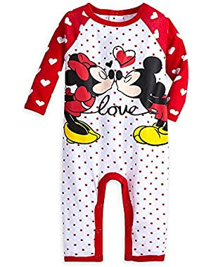 Disney Mickey and Minnie Mouse Coverall for Baby Red