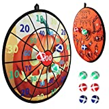 O-heart Halloween Dart Board, Double-Sided Velcro Dart Board Game Set with 6 Sticky Balls Toy Gift for Kids Family Fun Indoor Outdoor Halloween Party