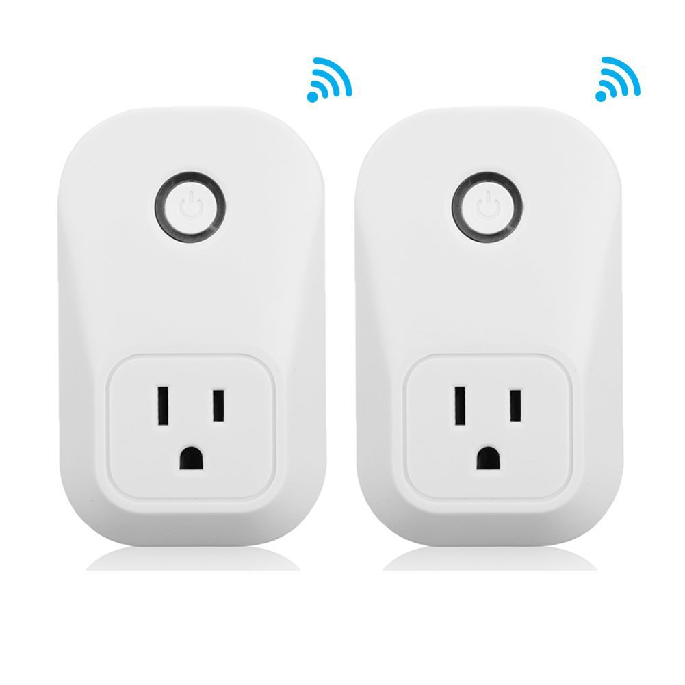 Amyove 1PC/2PCS WiFi Smart Socket Timing Switch Remote Control by Smart Phone (US Specification)
