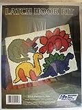 Latch Hook Kit - Prehistoric Pets - Dinosaurs,blue
