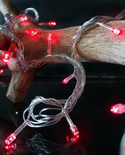 Fantado 100 Indoor/Dry Outdoor Red LED Mini String Lights...