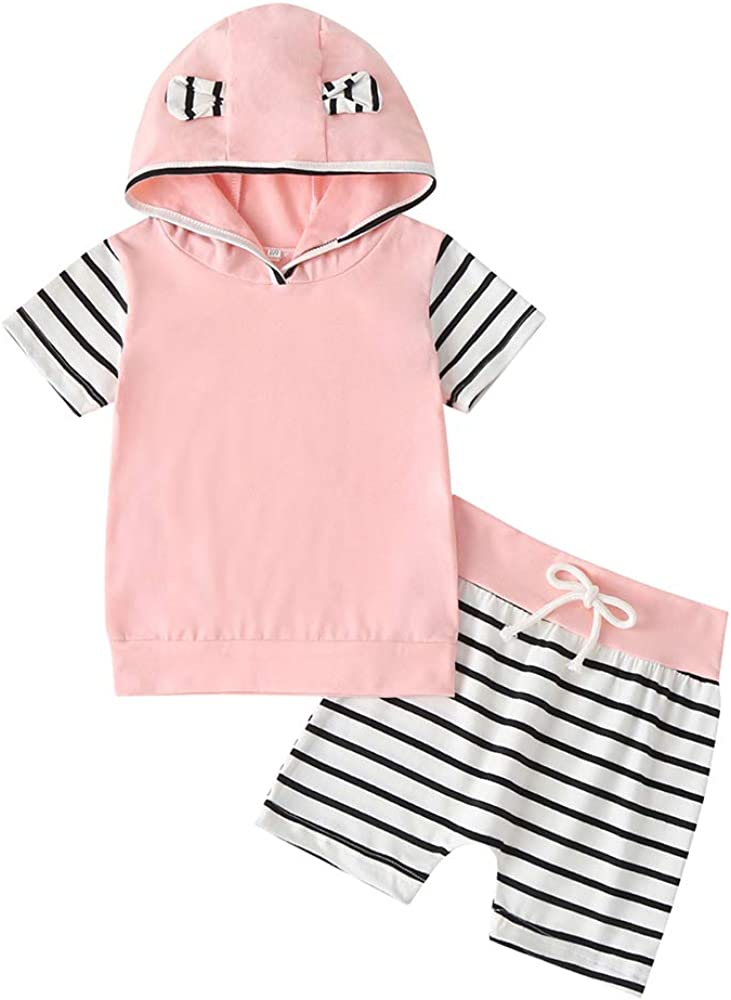 Infant Toddler Boys Girls Sweatshirt Set Winter Fall Clothes Outfit 0-3 Years Old Baby Hooded Top Pants