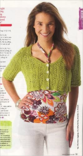 Womens Cropped Cardigan Knitting Pattern To Fit Bust Or Chest 82cm