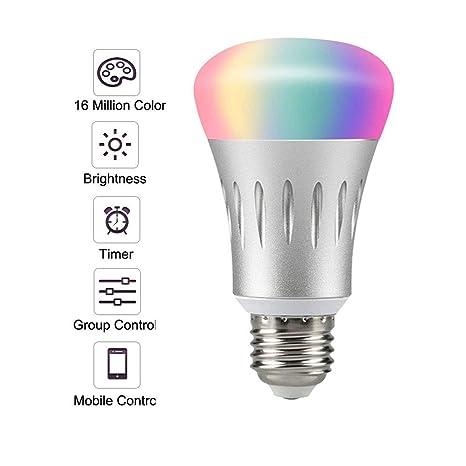 Wifi Light Bulb >> Smart Light Bulb Led Wifi Light Bulbs Dimmable Multicolored Led Light Bulbs Smartphone Controlled Daylight Night Light Works With Google
