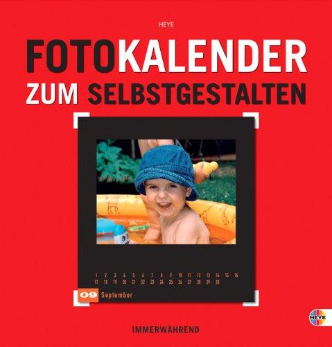 Foto-Kalender zum Selbstgestalten rot