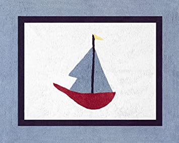 Amazon Com Come Sail Away Nautical Accent Floor Rug By Sweet Jojo