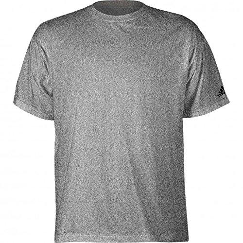 adidas Youth Logo Short Sleeve Tee (YXL, Athletic Grey)