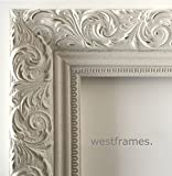 West Frames Bella Ornate Embossed Wood Picture Frame (8'' x 10'', Antique White)