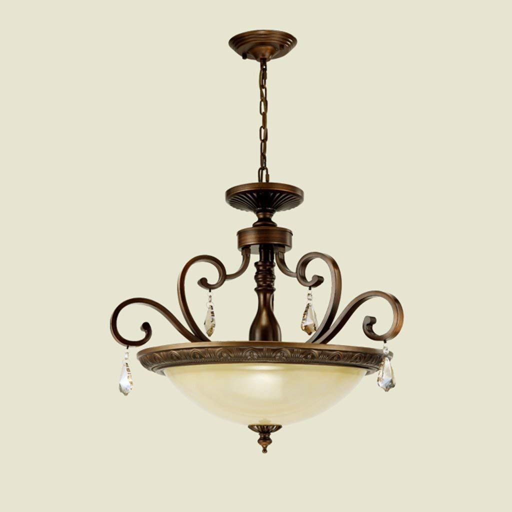 HhGold Irons Chandelier Restaurant, Dormitorios, Luces Colgantes Individuales, candelabros, Balcones, casetas, Balcones, candelabros, Cobre (24W), ...