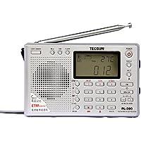 XHDATA PL-380 Radio Digital PLL Portable Radio FM Stereo/LW/SW/MW DSP Receiver (Silver)