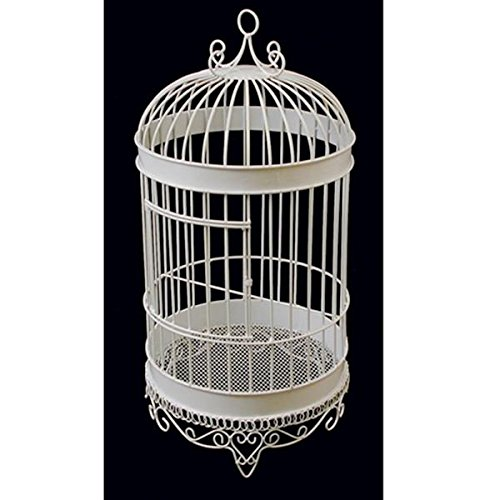 Firefly Imports Homeford Bird Cage Wedding Centerpiece, White