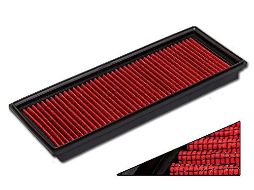 R&L Racing OEM Replacement Panel Air Filter For Mercedes Benz (1 Piece Set) - 1 Piece Rubber Air
