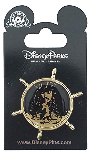 Disney Parks Pirates of the Caribbean Ships Wheel with Captain Jack Trading (Caribbean Disney Pin)