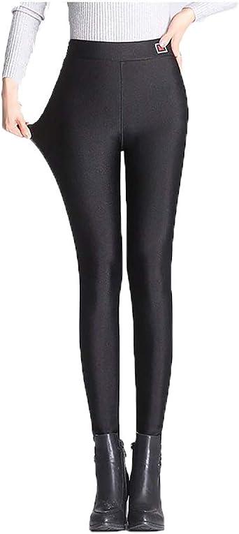 Femmes Super épaisseur Cachemire Leggings Polaire Matelassée thermiquement Élastique Pantalon