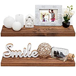 Baobab Workshop Wood Floating Shelves Set of 2 &#8...