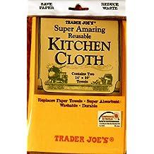 "Trader Joe's Reusable KITCHEN CLOTH - Two 14""x10"" Towels"