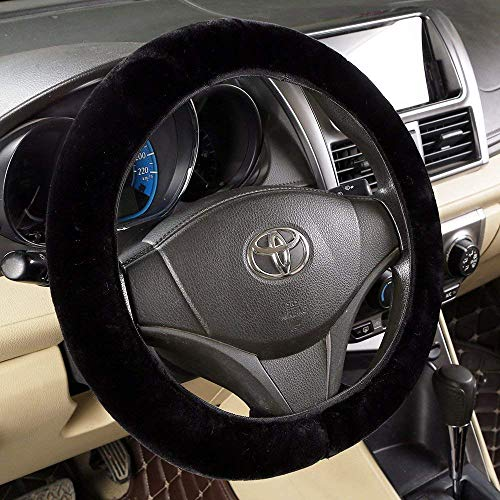 Car Steering Wheel Cover - Genuine Leather Heavy Duty Thick...