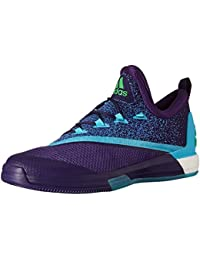 Adidas Men's Crazylight Boost 2.5 Low Basketball Shoes, Dark Purple/Blue/Shock Pink, 15 M US