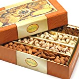 Ghasitaram Gifts Dry Fruit Box 200 gms (Multicolour,Square)