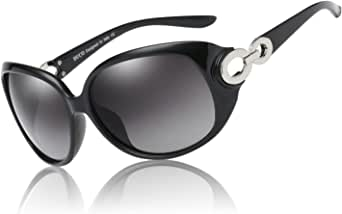 Duco Polarized Sunglasses for Women Retro Frame Sun Glasses Vintage Shades UV Protection 1220