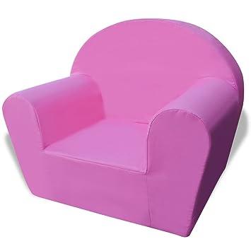 Silla para niños rosa y tela de alta calidad + espuma ...