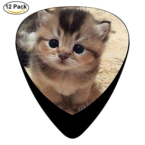 Big Eyes Cat Celluloid Guitar Picks 12 Pack Includes Thin,Medium,Heavy Gauges For Electric Acoustic - Cat Eye Rihanna