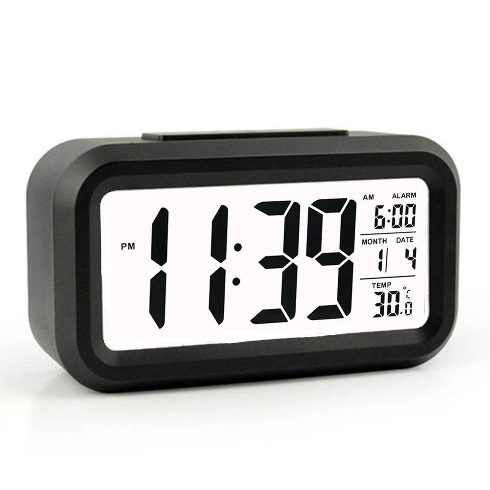 Amazon.com: HeQiao Travel Alarm Clocks, LED Clock Slim Digital Alarm Clock  Large Display Travel Alarm Clock With Calendar Battery Operated For Home  Office ...