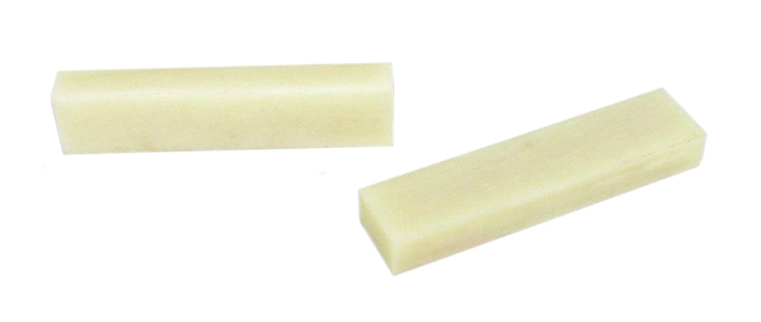 2pc. Bone Nut Blanks for Cigar Box Guitar C. B. Gitty Crafter Supply 31-053-01