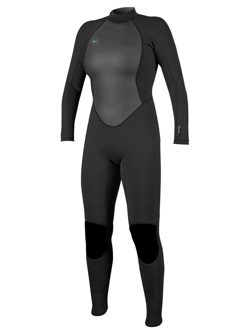 O'Neill Women's Reactor-2 3/2mm Back Zip Full Wetsuit, Black, 6
