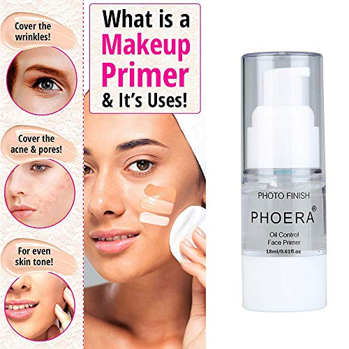 PHOERA Makeup Primer, Firstfly Long Lasting Isolated Hydrating Makeup Base Face Primer Cosmetic Beauty Foundation Primers (18ML)