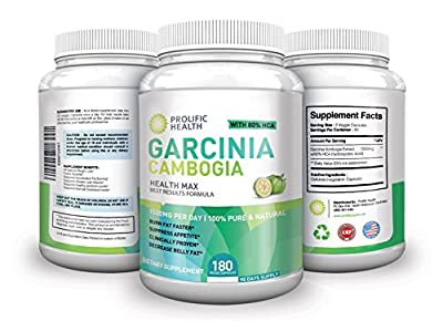 80% HCA 100% Pure Maximum Strength Garcinia Cambogia Premium Extract - 180 Count (90 Day Supply) - 3,000mg Per Day - All Natural Appetite Suppressant and WEIGHT LOSS Supplement. Made In The USA!