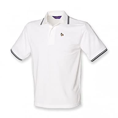 Kids Little Horse Logo Polo Shirt White With Navy 7 8 Years