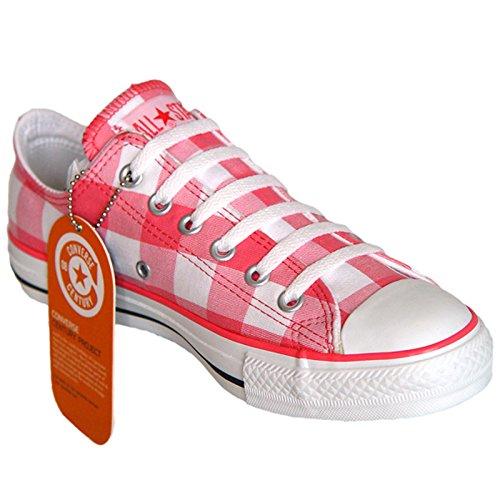 Converse Star Chucks Weiß Rosa Ox Kariert Limited Edition Größe: 36 UK: 3,5 Bestellnummer: 102981