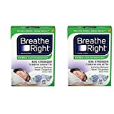 Breathe Right Extra Clear Nasal Strips AgvBvt, 2Pack (26 Count)