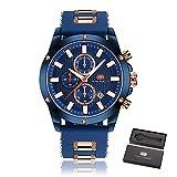Mens Sport Quartz Watches,Fashion Casual Watch,Mini Focus Men Chronograph Waterproof Wrist Watch with Date Display