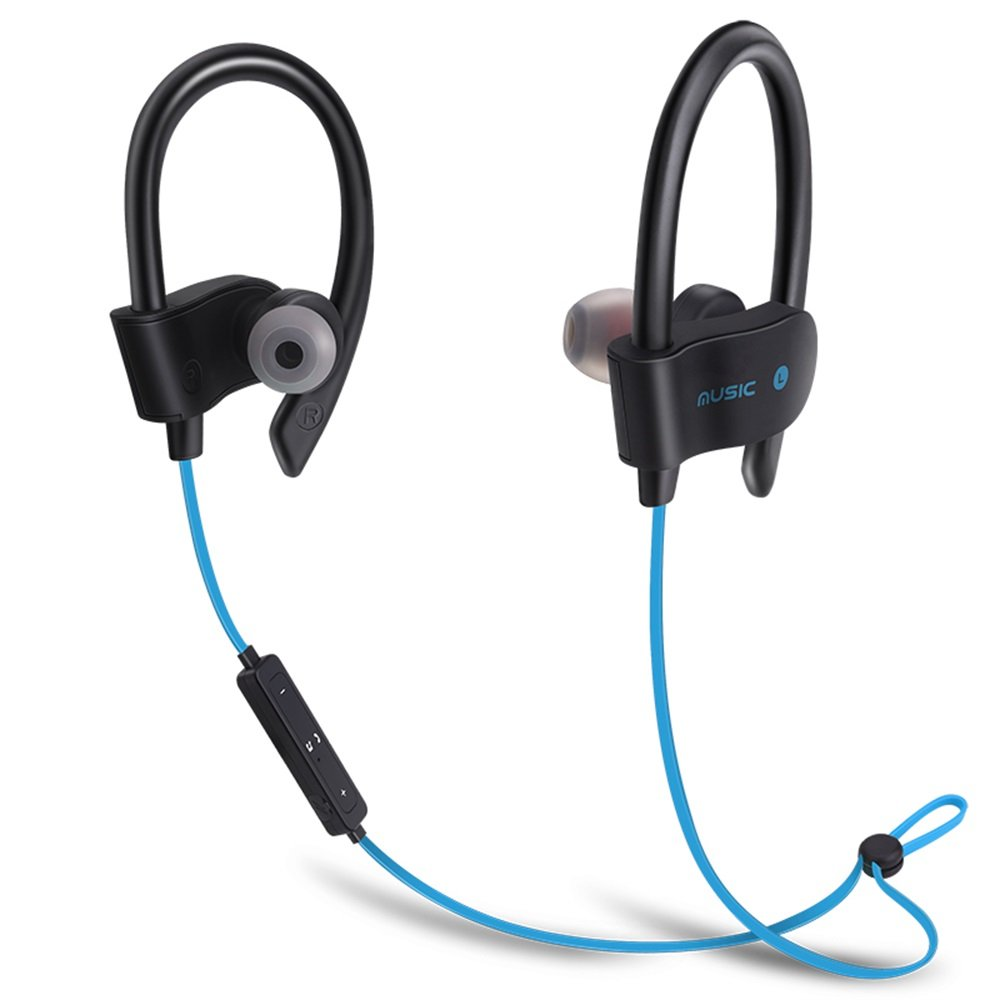 Bluetooth Sports Headphones Anti-Sweat Wireless Waterproof Headset in-Ear Headset Music Earphone Cell Phone Headsets Portable Headsets Remix Headphone Computer Headset Bluetooth Earbuds (Blue)