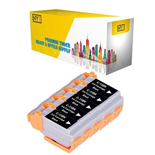 New York Toner New Compatible 5 Pack BCI-11BK Black High Yield Inkjet For - BJCAN-70 . -- - Inkjet Bci 11bk